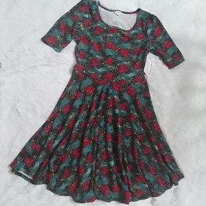 LuLaRoe Nicole Floral Dress XL